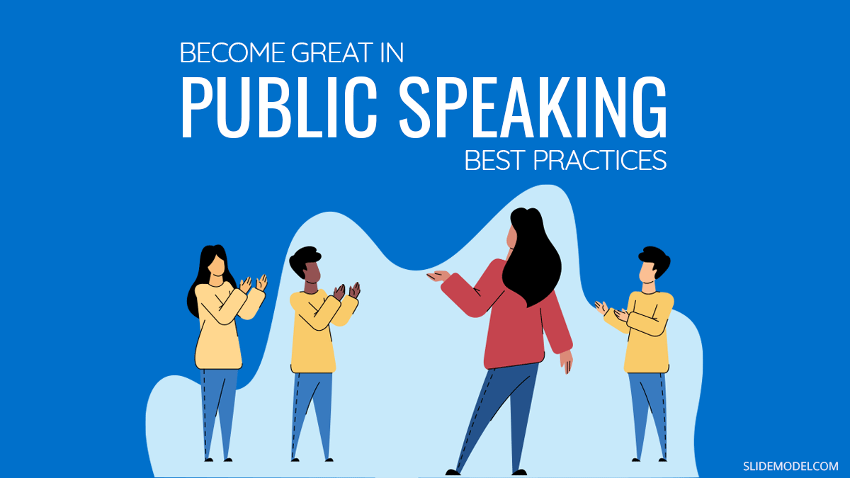 How to Become Great in Public Speaking: Presenting Best Practices PPT Template