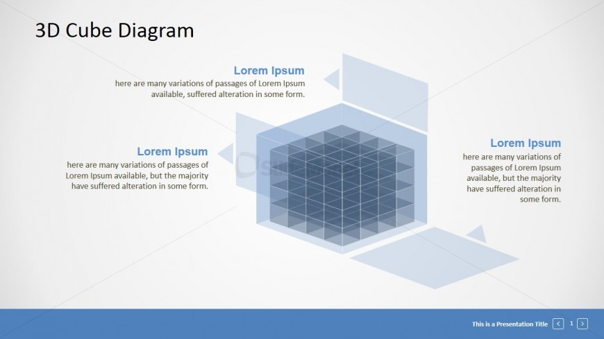 Professional 3D Cube Diagram PPT Template - SlideModel