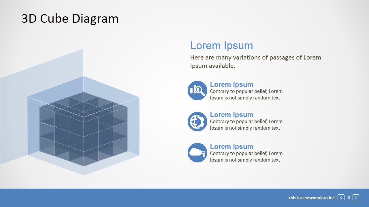 editable 3d cube presentation template