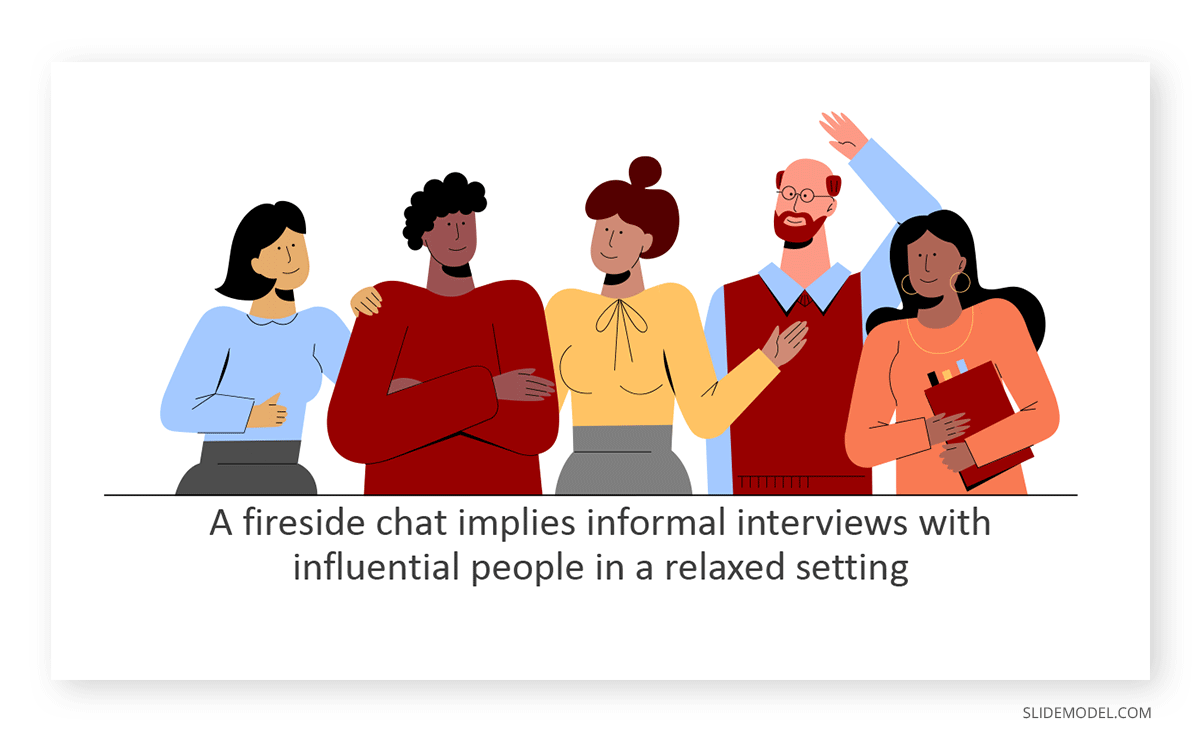 Fireside Chats People Talking PPT Template