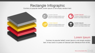 PowerPoint 3D Layers Diagram Infographic
