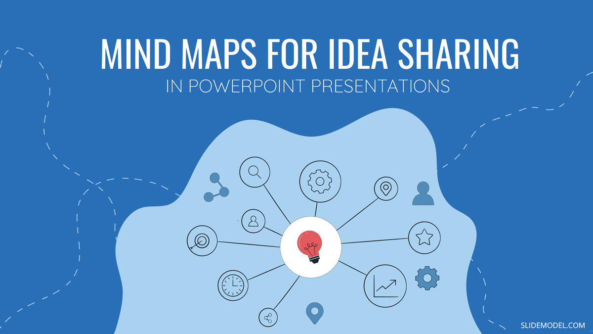 Using Mind Maps To Share Ideas in PowerPoint Presentations Template