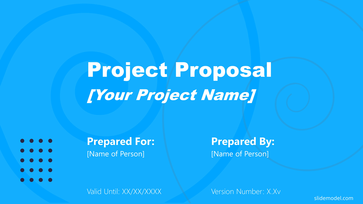 Project Proposal Cover Slide Template