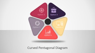 Curved Pentagon PowerPoint Diagram