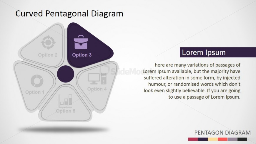Five Steps 3D Shapes for PowerPoint