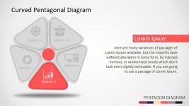 Flat Pentagonal Diagram for PowerPoint