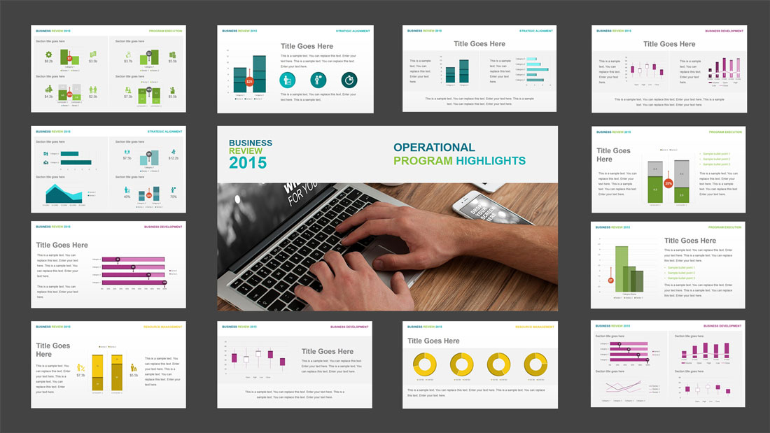 PPT Template Quarterly Business Review