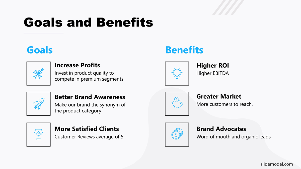 Goals And Benefits PowerPoint Slide Project Proposal