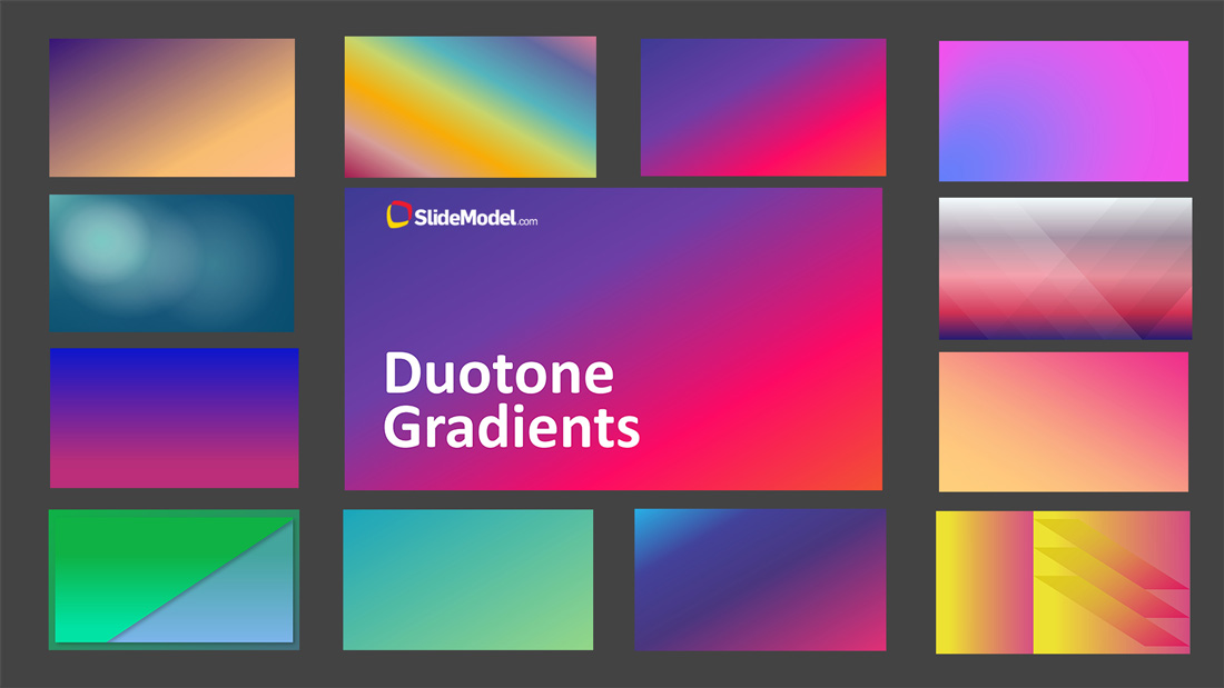 PPT Template Duotone Gradients