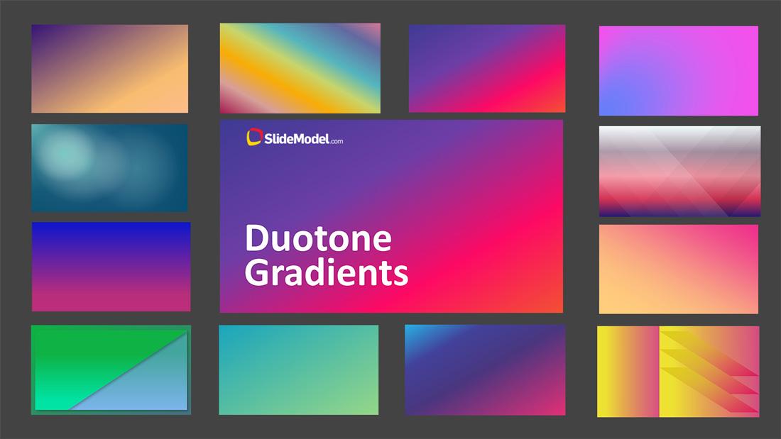 PPT Template Duotone Gradients