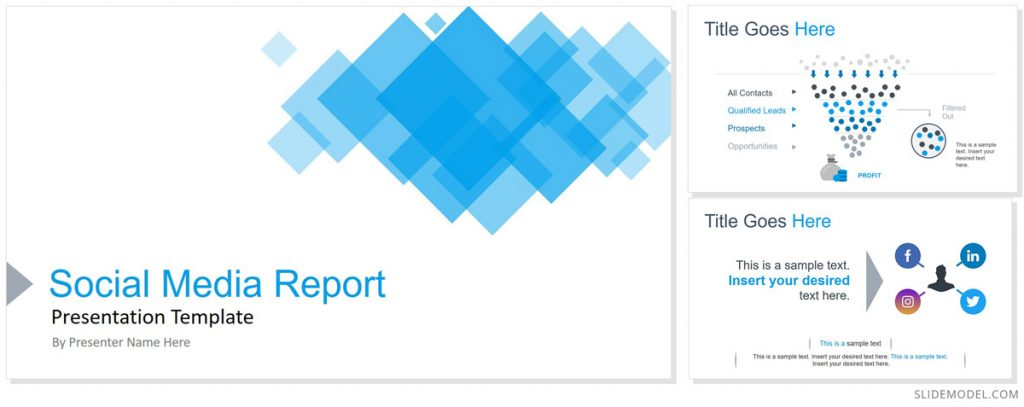 Social Media Report Free PowerPoint Themes