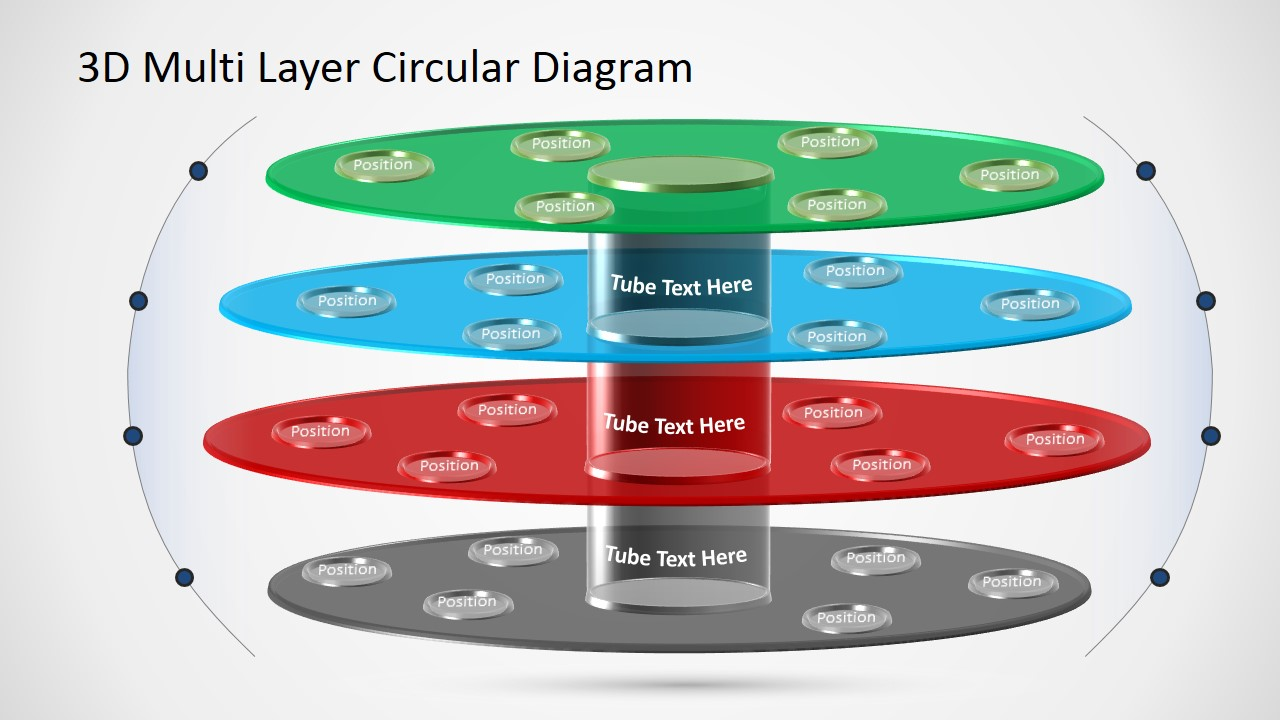 PPT Template with Circular 3D Layers