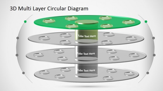 Layered PPT Template Circular Diagram