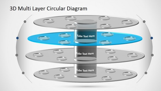 PowerPoint Diagram Circular Layers 3D
