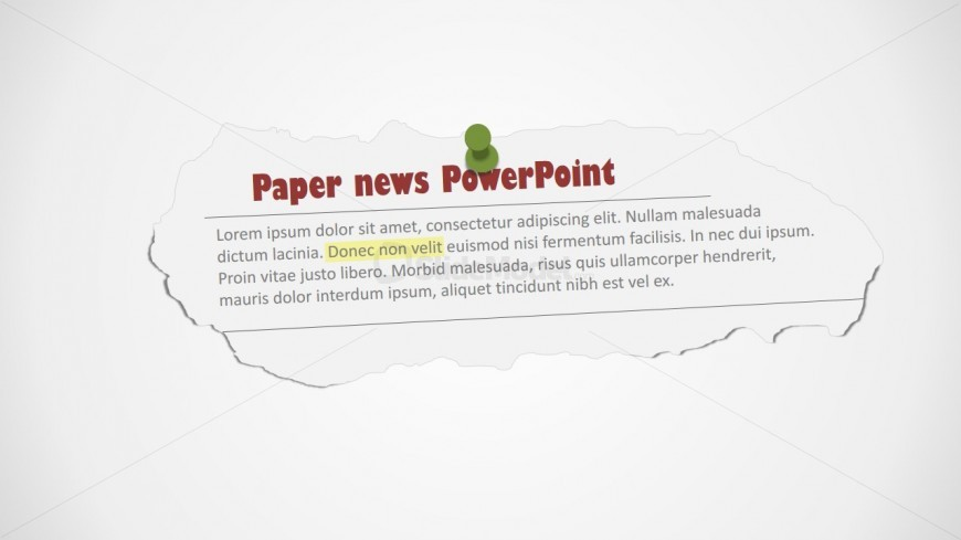 PowerPoint editable clipping shapes of newspaper