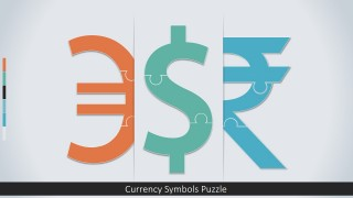PowerPoint Jigsaw Currency Shapes