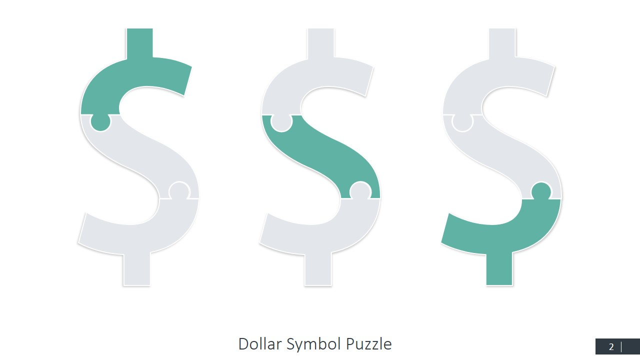 Currency Symbols Puzzle Shapes for PowerPoint