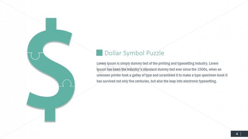 Dollar Jigsaw Money Symbol Clipart For Powerpoint Slidemodel