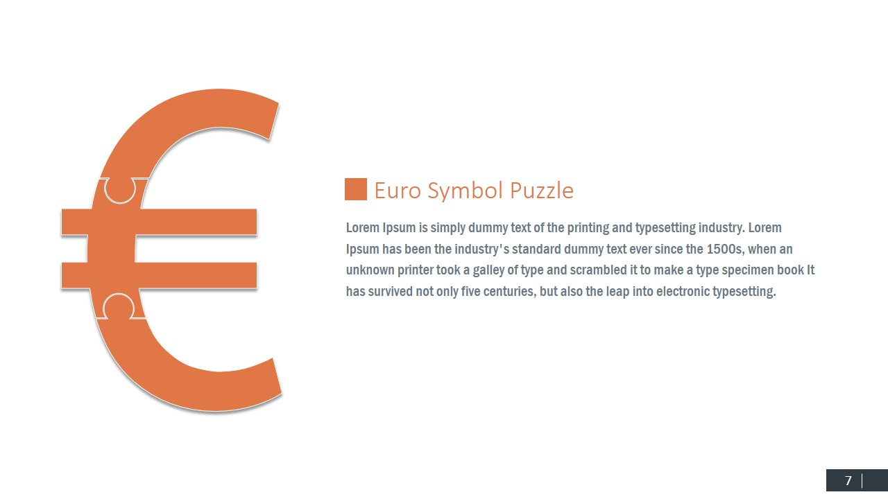 Currency symbols puzzle shapes for powerpoint slidemodel euro jigsaw shapes currency professional powerpoint templates currency pound symbol buycottarizona Choice Image