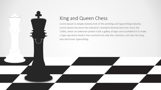 Chess Jigsaw Pieces King and Queen