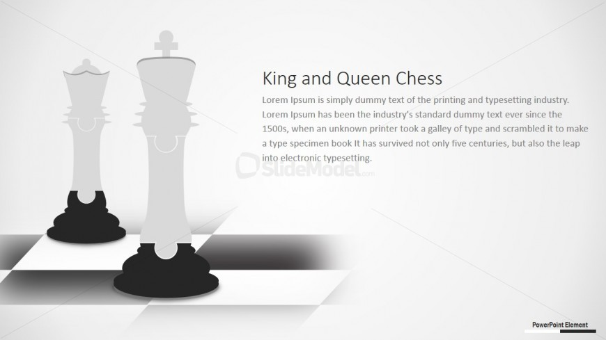 PowerPoint Clipart Puzzle Chess King and Queen