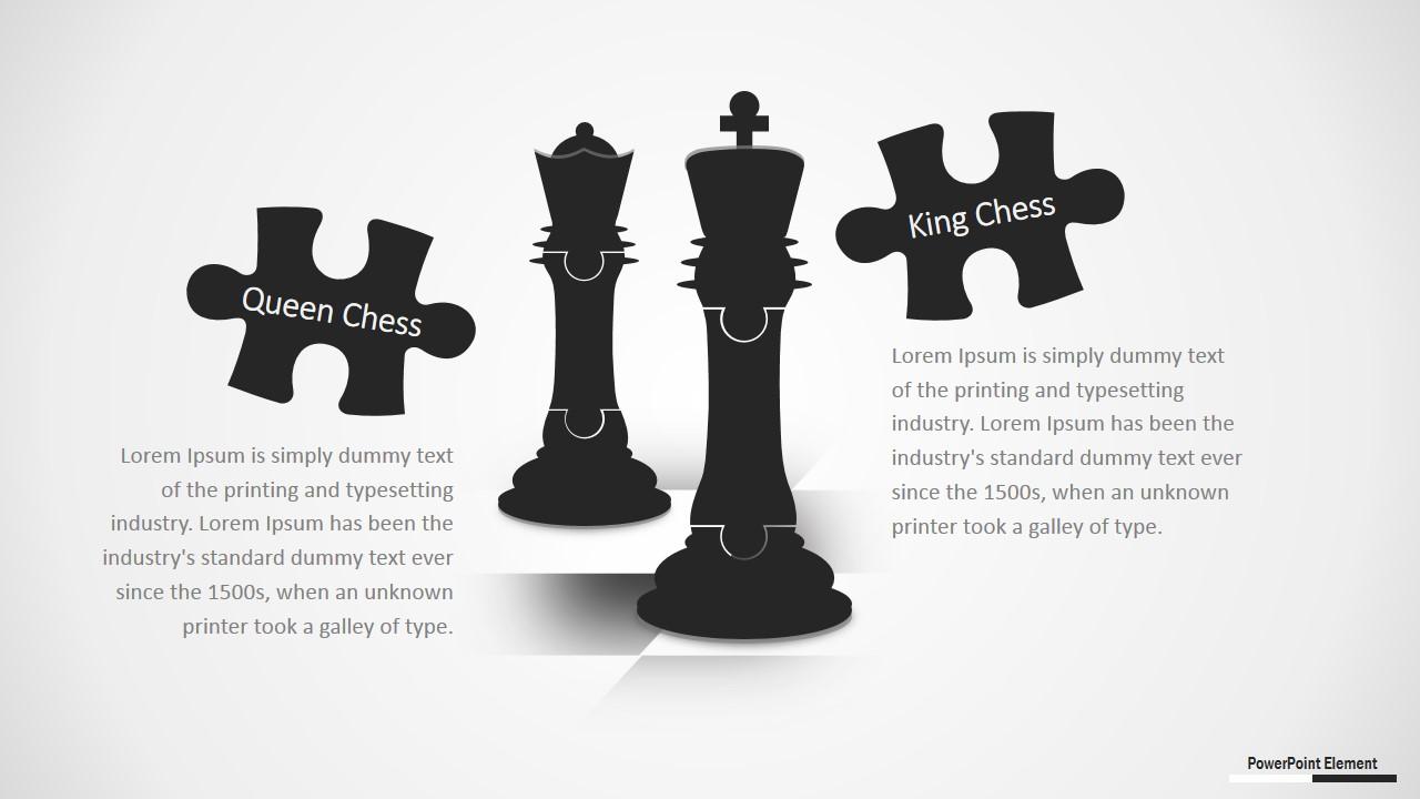 PowerPoint Template Chess Jigsaw Design