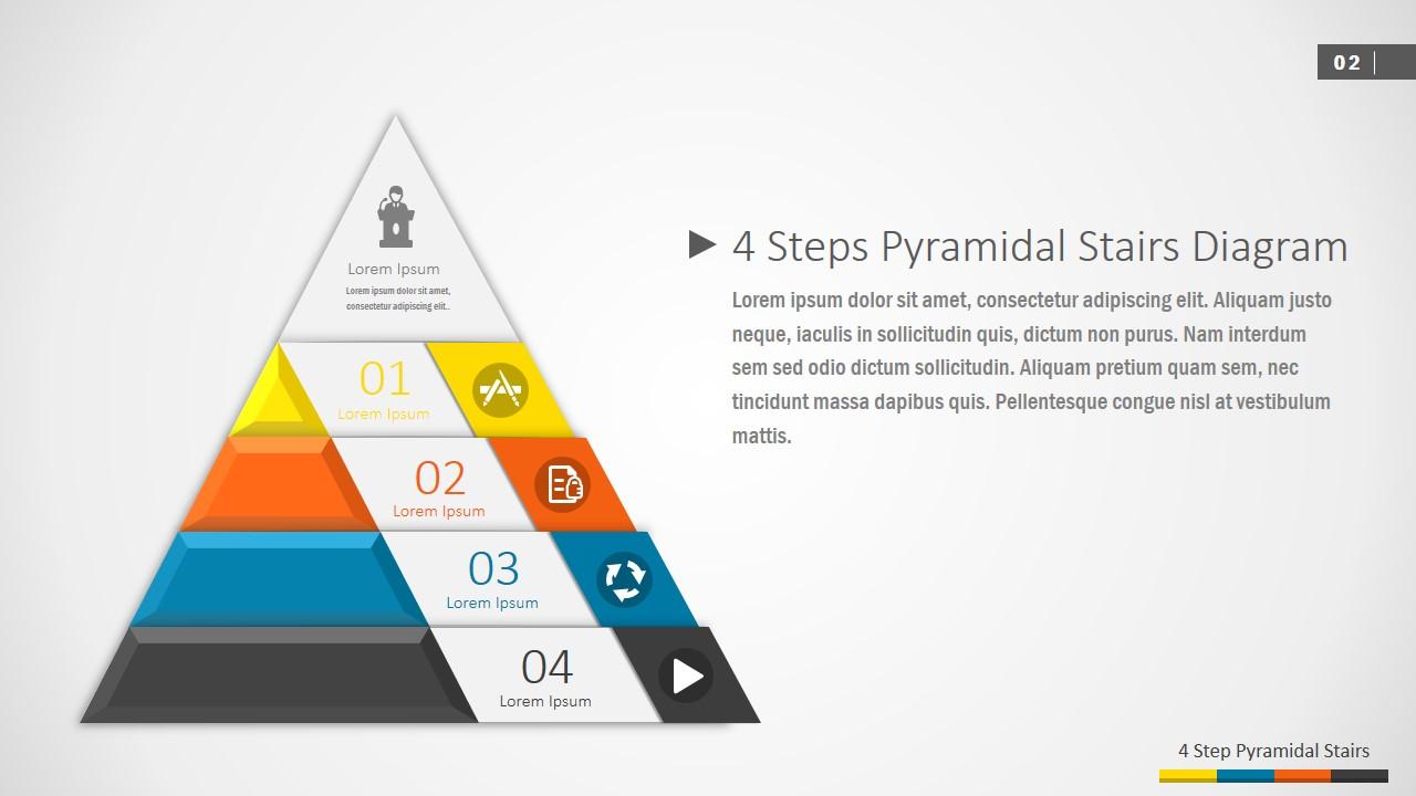 PPT Flat Diagram 4 Steps