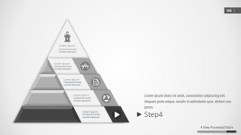 Diagram PowerPoint Pyramid 4 Steps