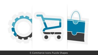 E-Commerce Icons Puzzle PowerPoint Shapes