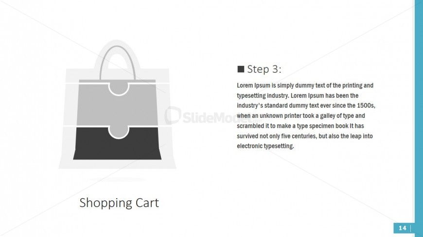 PPT Diagram Puzzle Shapes Shopping Bag
