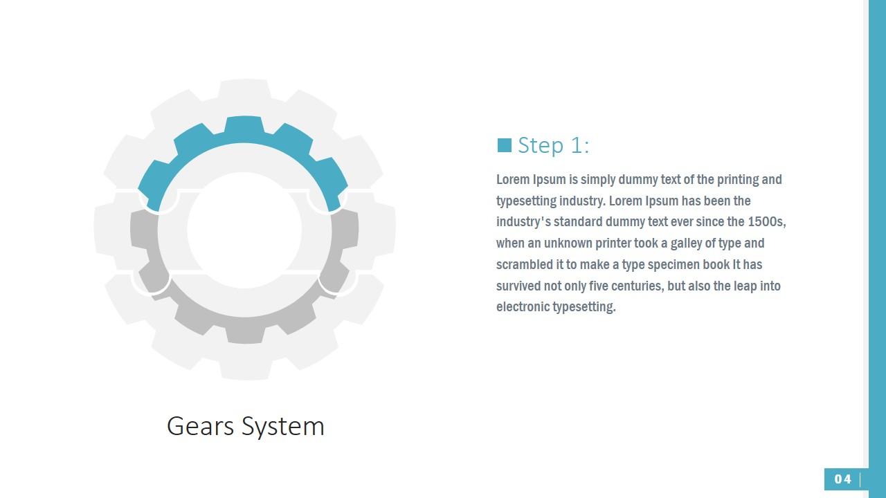 PowerPoint Shapes First Segment Gear Jigsaw