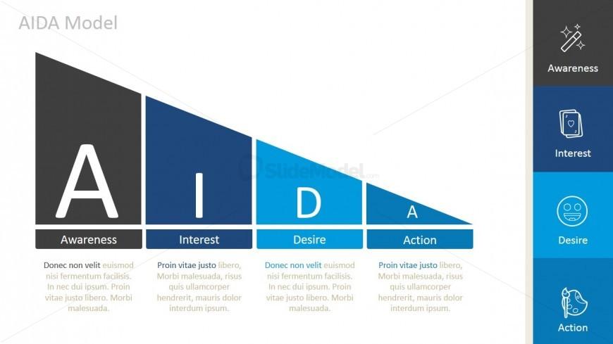 PPT Funnel Diagram AIDA Model