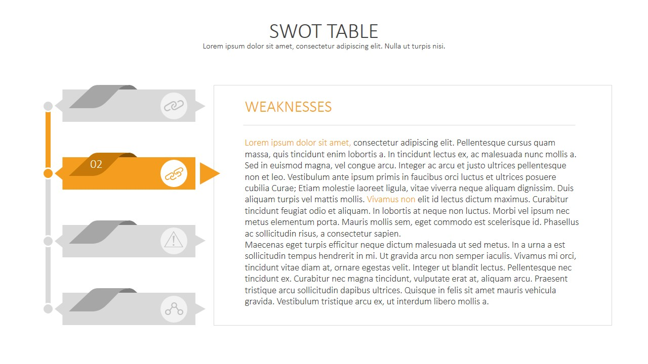 Swot analysis template for powerpoint swot analysis table for Powerpoint sitemap template