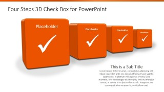 4 Steps 3D Checkbox PowerPoint Template