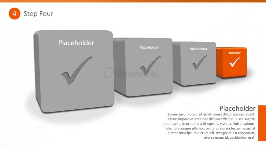 PowerPoint Diagram 3D Checklist