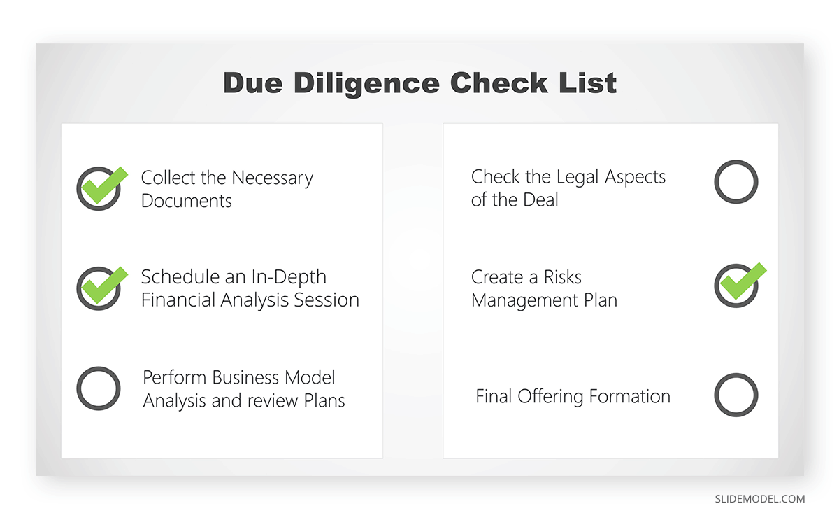 Due Diligence Checklist PPT Template