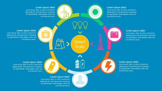 PPT Smart Grid Icons Slide