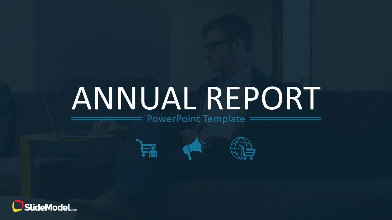 annual report powerpoint template slidemodel