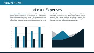 Data Driven Charts for Market Expenses PPT