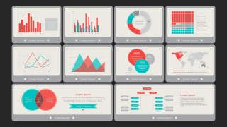 PPT Dashboard Template Flat Vintage