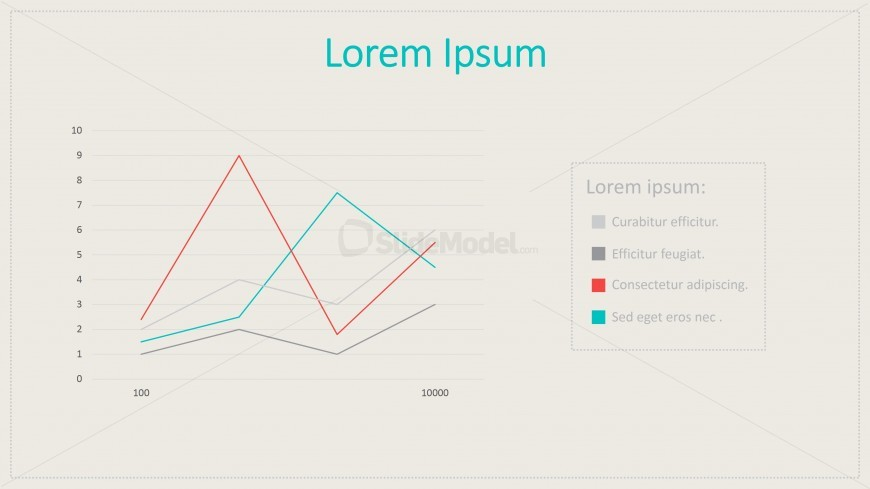 flat line chart vintage style for powerpoint