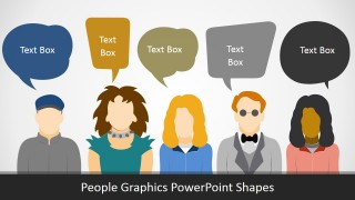 PPT Template of People Silhouettes