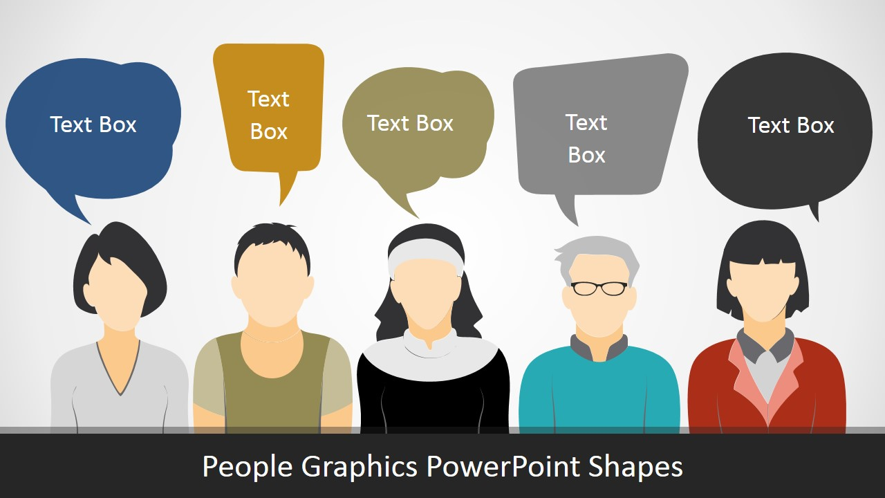 PowerPoint Shapes of People Silhouettes