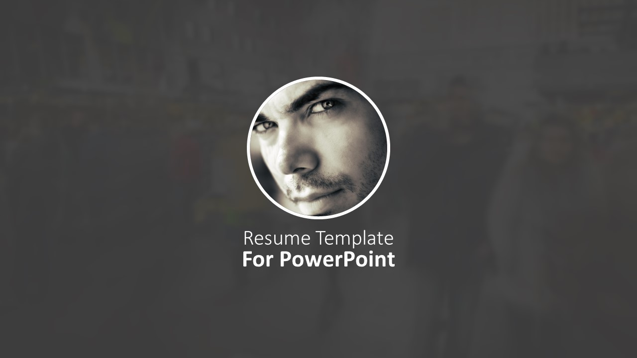 resume template for powerpoint