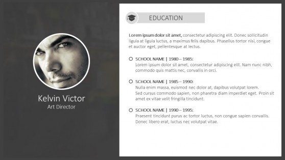 Personal CV Powerpoint Templates