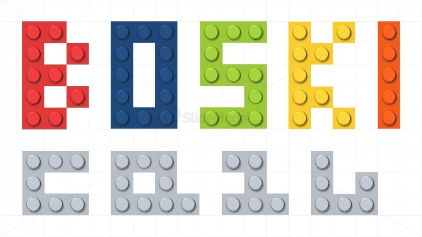 lego letters built with bricks for powerpoint slidemodel