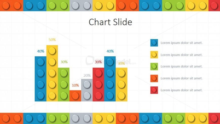 bar chart lego theme for powerpoint slidemodel. Black Bedroom Furniture Sets. Home Design Ideas