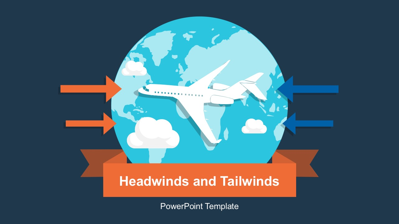 Headwinds Tailwinds With The World Graphics For PowerPoint