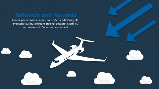 airplane powerpoint templates, Modern powerpoint