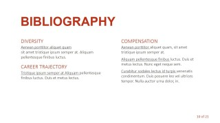 PPT Template for Bibliography